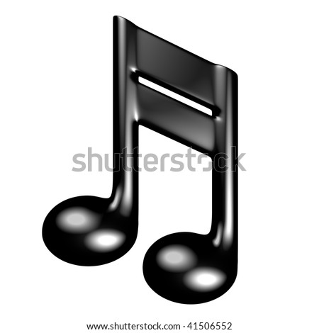 3d render of musical symbol - stock photo