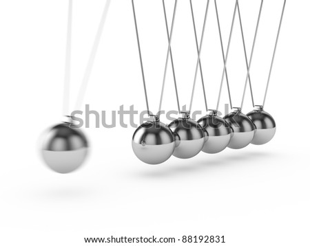 3d render of newton ball isolated on white background