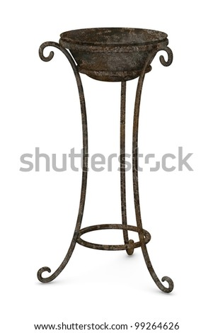 3d render of old hand basin - stock photo