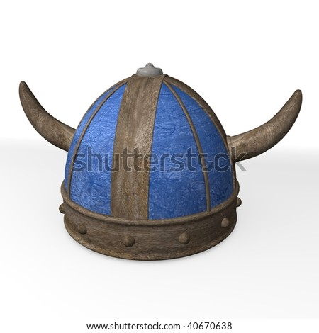 3d render of old helmet - stock photo