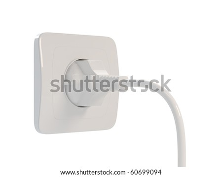3d render of outlet on white background - stock photo
