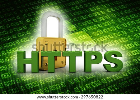 3d render of protected internet browser. Concept of safe and secure internet surfing - stock photo