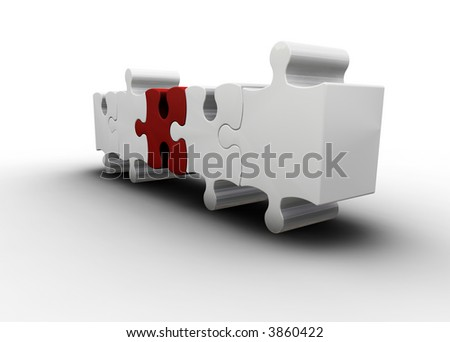 3D render of puzzle pieces