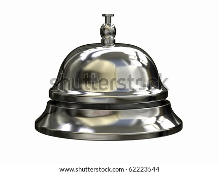 3d render of Reception bell - stock photo