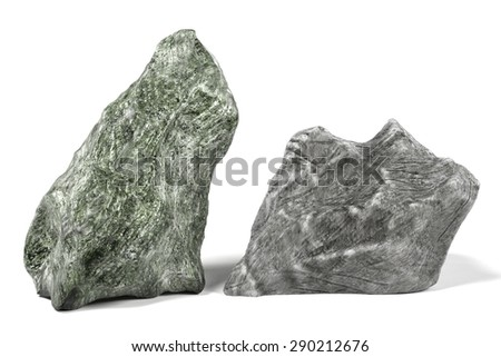 3d render of rock stone - stock photo