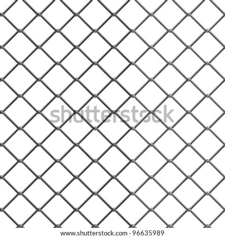 3d render of seamless fence chain - stock photo