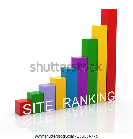 3d render of search engine ranking progress bars