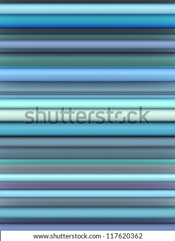 3d render of shaded tubes in different blue purple colors - stock photo