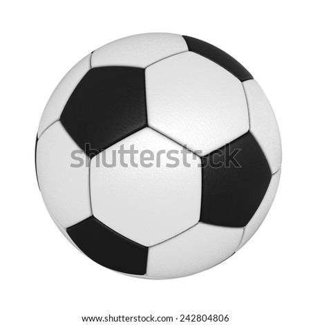 3d render of soccer ball isolated over white background - stock photo