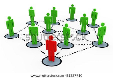 3d render of social network concept - stock photo
