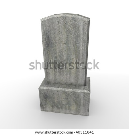 3d render of stone grave - stock photo