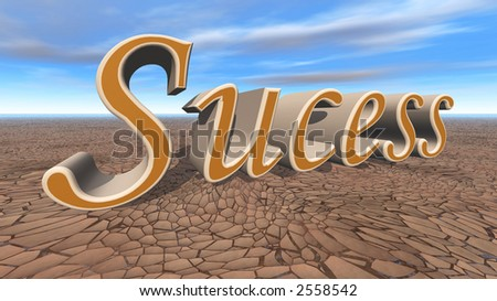 3d render of success and bright blue sky