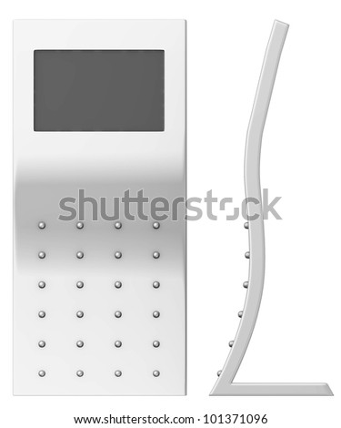 3d render of  terminal with screen - stock photo