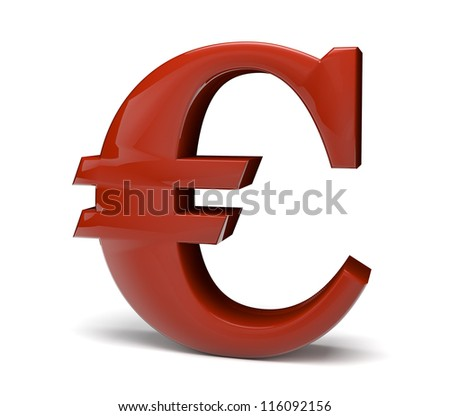 3d render of the euro symbol - stock photo