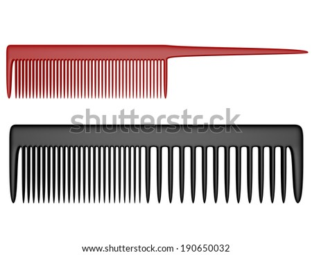 3d Render of Two Types of Combs - stock photo