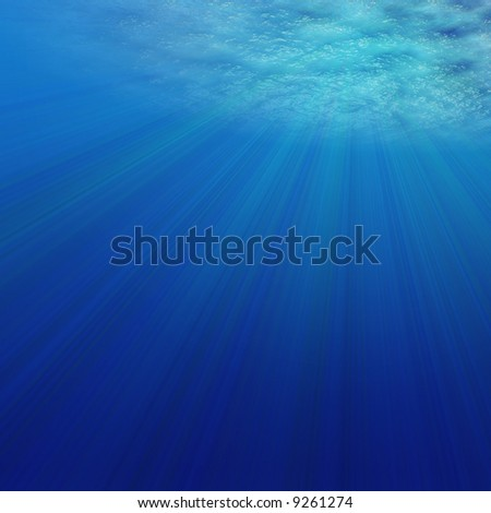3D Render of Under Water - stock photo
