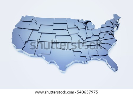 3 D Render United States Based On Stock Illustration 540637975 ... U S Map With States Html on texas with states, google maps with states, florida with states, us map w states, games with states, north america with states, usa with states, nevada with states, nebraska with states, united states map states,