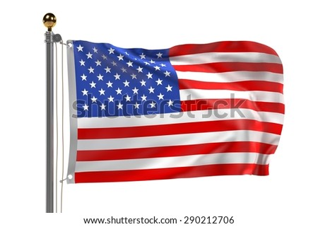 3d render of US flag
