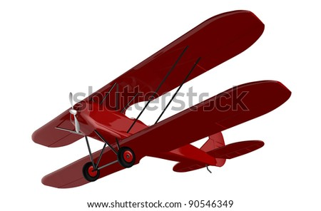 3d render of  vintage aircraft on a white background - stock photo