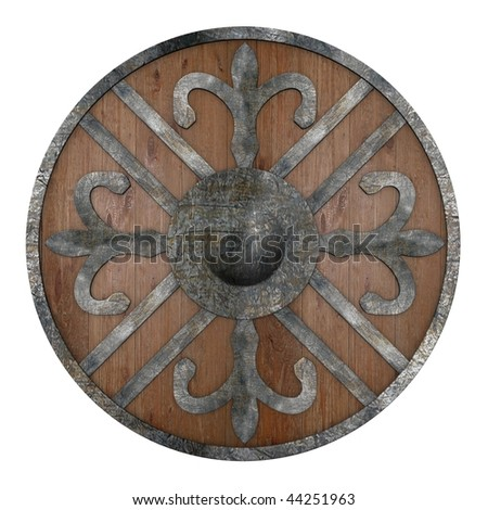 3d render of war shield - stock photo