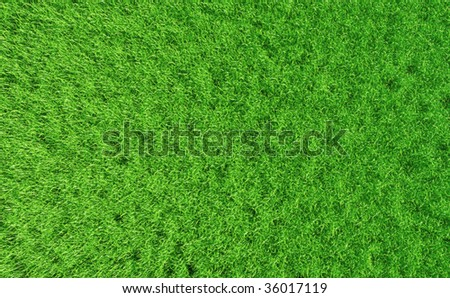 3D render - perfectly clean grass background; detailed top view. - stock photo
