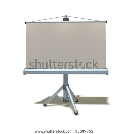 3d render presentation or education equipment illustration - stock photo
