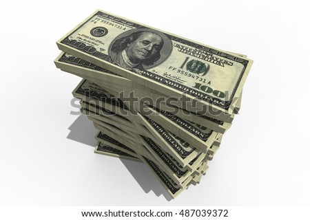 3D render representing a stack of money / Money stack