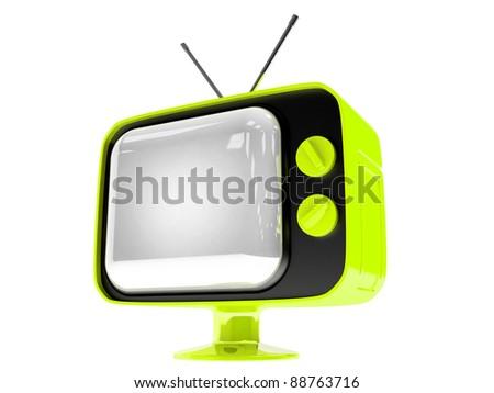 3D render Retro TV - stock photo