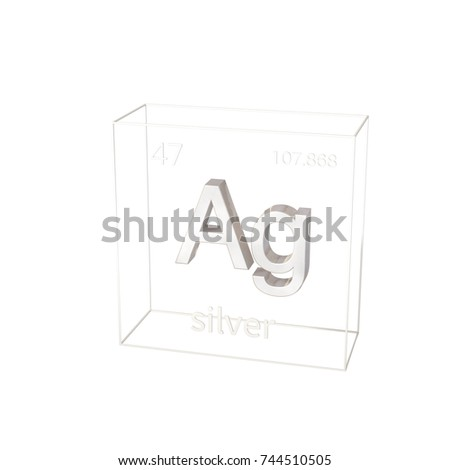 3d render silver chemical element atomic stock illustration 3d render silver chemical element atomic number and atomic weight chemical element of urtaz Choice Image