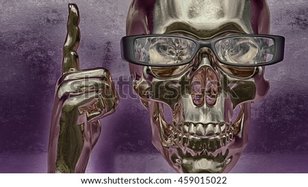 3d render / skull illustration / a mark of the danger warning / T-shirt graphics