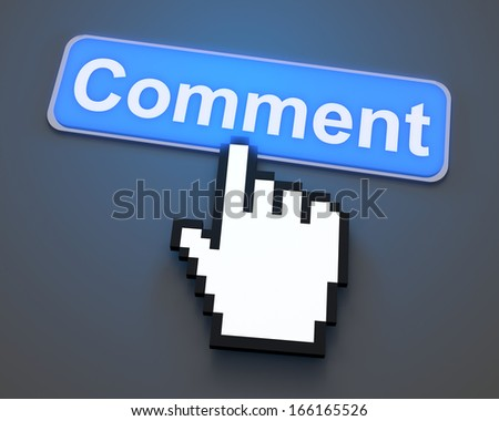 3d render. social media Button Isolated on White