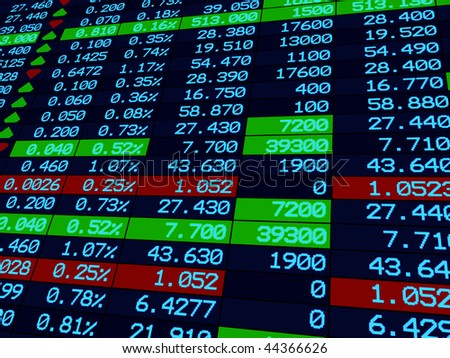 3d Render Stock Market Graph - stock photo