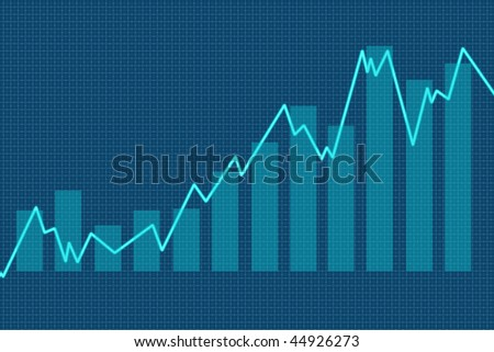 3d Render Stock Market Graph