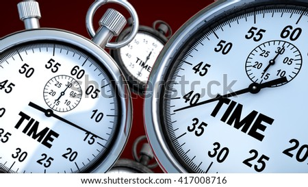 3d render. Stopwatch and time - stock photo