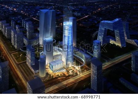 3d render Urban - stock photo