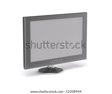 3D renderdering of  LCD monitor,isolated