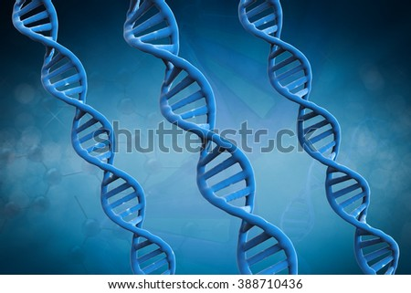 3d rendered blue dna structures