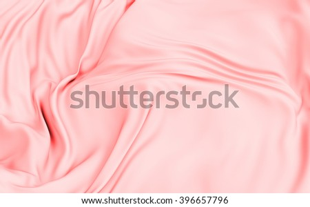 3d rendered cloth surface, abstract background with deformed plane shape with folds and waves