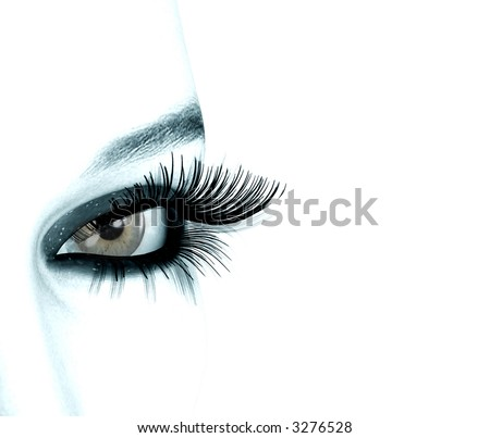 3D rendered eye of a woman