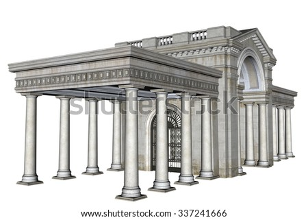 3D Rendered Fantasy Building - stock photo