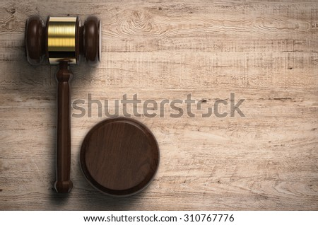 3d rendered gavel judge - stock photo