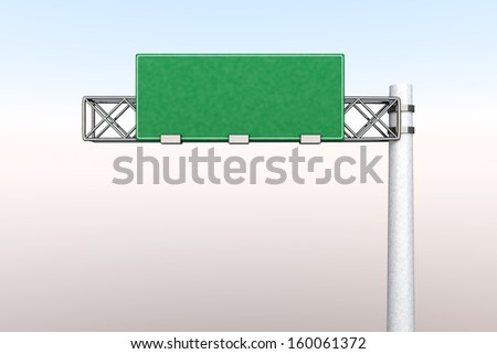 3D rendered Illustration. A empty Highway Sign.