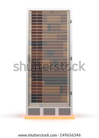 3D rendered Illustration. Isolated on white. - stock photo