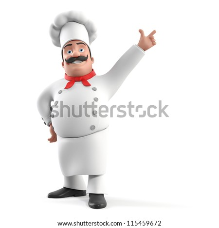 3d rendered illustration of a kitchen chef - stock photo