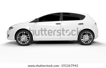 3d rendered illustration of a small car - stock photo