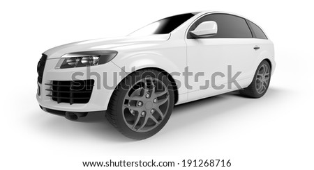 3d rendered illustration of a SUV coupe