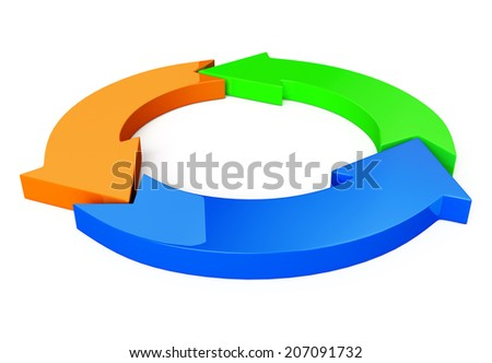 3d rendered illustration of business arrow diagram