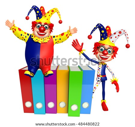 3d rendered illustration of Clown with Files