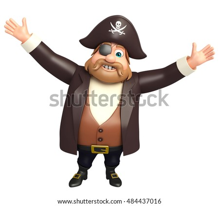 3d rendered illustration of pirate