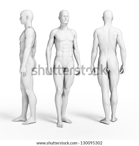 3d rendered illustration of some fitness guys - stock photo